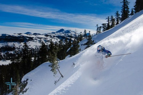 Pow turns days after the storm (Photo by Lauren Lindley)