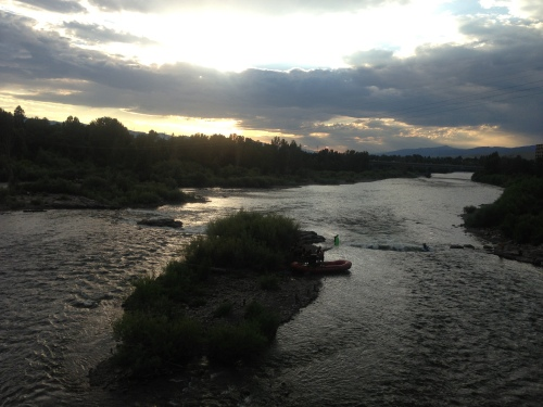 Missoula sunset before delicious ice cream at the Big Dipper. YUM!