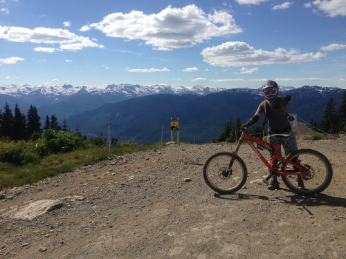 Downhill mtn biking is taken to a whole new level at Whistler
